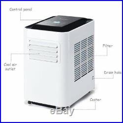 10000 BTU Portable Air Conditioner Unit with Dehumidifier & Fan for Rooms up to