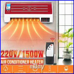 1000W2000W Electric Wall Mount Heater Air Conditioner Remote Timer Fast Heating