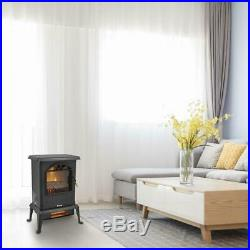 1500W Electric Fireplace Heater Wood Fire Flame Stove 68-95/20-35 Adjustable