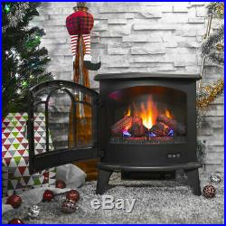 20 Electric 1400W Fireplace Heater Fire Flame Stove Wood Freestanding with Remote