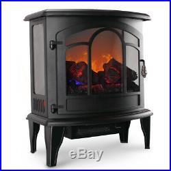 20 Electric Fireplace Tempered Glass Adjustable 1400W Heater Portable Stove