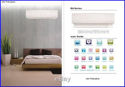 24000 BTU Ductless Mini Split Air Conditioner, Cooling and Heating, Complete Set