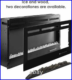 40Electric Fireplace Recessed Insert Wall Mounted Free Standing Powerful Heater
