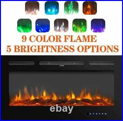 40Electric Fireplace Recessed insert Wall Mounted Free Standing Electric Heater