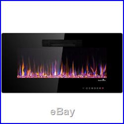 50 Recessed Electric Fireplace In-wall Wall Mounted Electric Heater