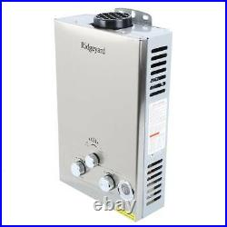 8L Propane Gas Lpg 2GPM Instant Hot Water Heater Tankless Boiler with Shower Home