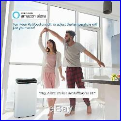 Alexa-Enabled App RolliCool 14,000 BTU Portable Air Conditioner With Heater/Fan