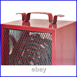 Comfort Zone CZ290 Portable Fan Forced Industrial Workshop Space Heater, Red