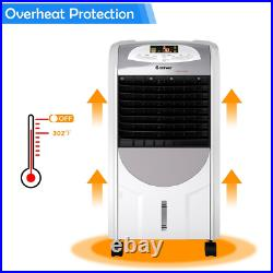 Compact Portable Air Cooler Fan Heater Humidifier Wash Filter Remote Evaporate