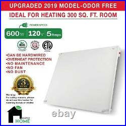 EconoHome Wall Mount Space Heating Panel with Thermostat 600W Convection Heater