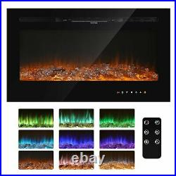 Famliy Electric Fireplace Recessed insert Wall Mounted Standing Electric Heater