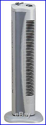 Genuine Prem-i-Air Grey Portable Tall Standing Cold Air Tower Fan with Timer H39