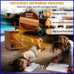 Infrared Cabinet Heater with Remote Control Quartz Electric Space Heater Indoor