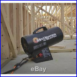 Mr Heater Portable Propane Forced Air Heater withQuiet Burn Technology MH125FAV