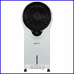 NewAir Portable Air Conditioner Evaporative Cooler Tower Fan with Remote, White