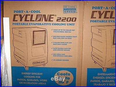 Port A Cool PACCYC03 Cyclone 2200 Portable Evaporative Cooling Unit BLACK