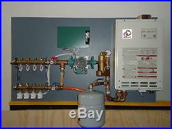 Radiant Heat Panel System (4-zone) with Propane/Natural Gas Heater