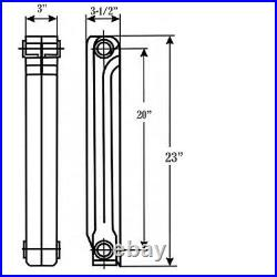 Wall Mount Radiator Heater Hot Water Heating 10 Section Aluminum Hydronic System