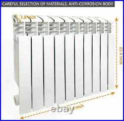 Wall-mounted Aluminum Radiator Heater with 10 Panels for Room Heating