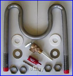 Wood Stove Hot Water Coil 63t Kit- Hydronic/domestic Heating- Wood/coal Stoves